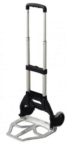 Einfache Alu-Paketkarre, klappbar, 50 kg Tragkraft, Schaufel 380x320 mm