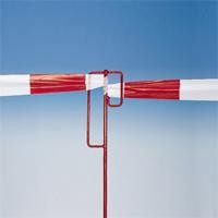 Absperrband-Halter, Höhe 1250 mm, Glattstahl rot,1 Stück nur für Testzwecke, MINDESTABNAHME 5 Stück