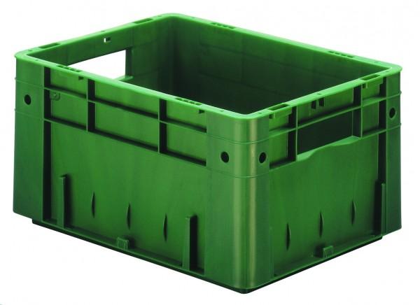 Schwerlast-Stapelkästen grün VTK 400/210 (PP), Wände und Boden geschlossen, VE = 4 Stück