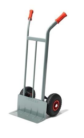 Sackkarren 425x148 mm, 200 kg Tragkraft, 3 Räder, Luftreifen, Vollgummi, Pannensicher
