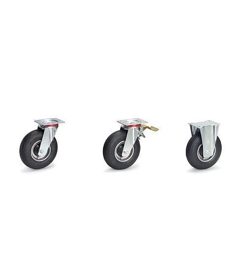 Lenkrolle mit Feststeller - Luftrad, 150 kg Tragkraft, 220x70 mm