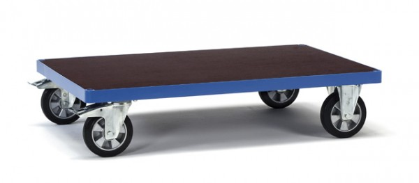 Plattformwagen 1000x700 mm, 1200 kg Tragkraft, rutschsichere Siebdruckplatte