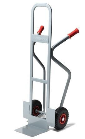 Stapelkarren 350 kg Tragkraft, 3 Räder, Luft Vollgummi, Pannensicher