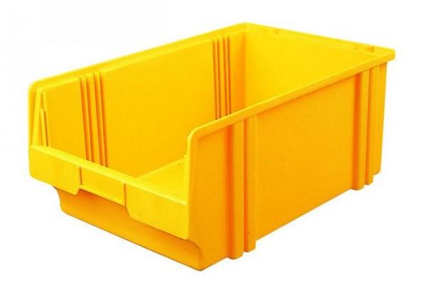 Sichtlagerkästen LK 1b grau 500x300x200 mm, aus Polystyrol (PS), stapelbar, VE = 8 Stück