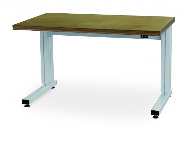 Arbeitstisch 1250x600 mm, elektrisch höhenverstellbar von 710-1110 mm, 400 kg Tragkraft