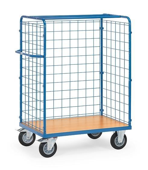 Paketwagen mit Drahtgitterwänden 600 kg Tragkraft, 1200x800x1552 mm Euro-Format