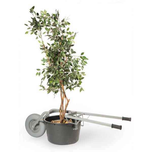 Pflanzkübelkarre pannensicher für Kübel und Wannen mit 65 und 95 Liter Ø 500 – 600 mm, 250 kg Tragk