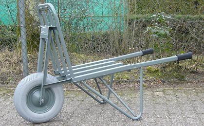 Einfache Stein- und Ziegelkarre, Tragkraft 150 kg, pannensicheren Reifen