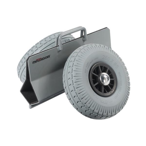 Plattenroller 125 mm, pannensichere Reifen, 300 kg Tragkraft, 390x310x350 mm