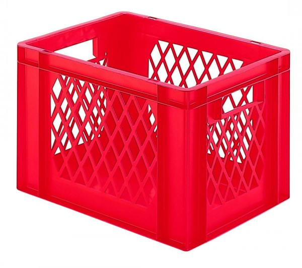 Stapelkästen Höhe 270 mm rot, TK 400, Wände durchbrochen, Boden geschlossen, 4 Stück