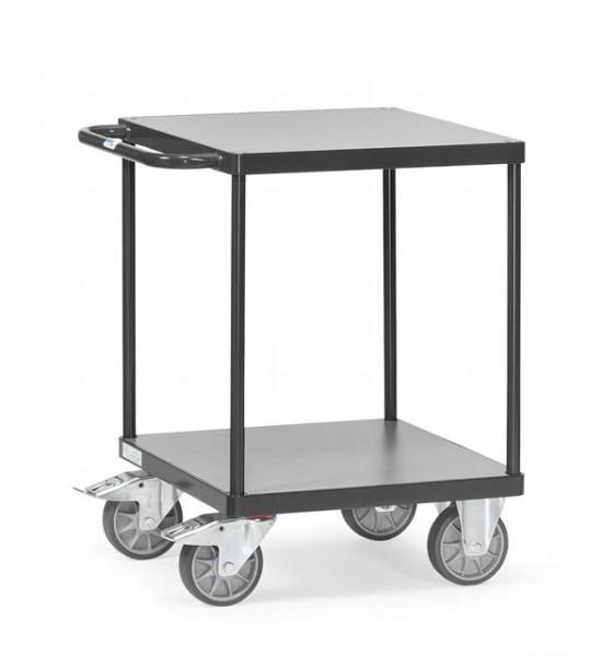 Schwerer Tisch- und Montagewagen, anthrazit, 500 kg Tragkraft, 600x600 mm