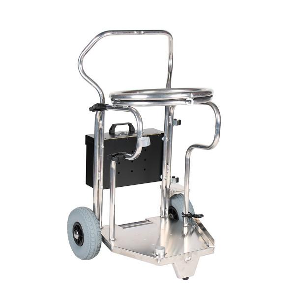 Abfallwagen - Abfallsammler für 120 Liter Säcke, mit Klemmring als Sackhalter, Aluminium fahrbar