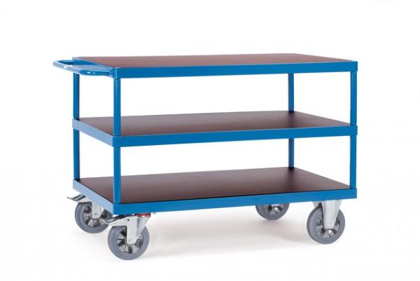 Schwerer Tischwagen 1200 kg Tragkraft, 1200x800 mm, 3 Etagen, EURO-Format