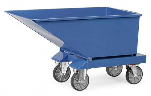 Muldenkipper 250 Liter, 750 kg Tragkraft, Lenk- und Bockrollen