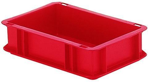 Stapelkästen Höhe 75 mm rot, TK300/200, Wände und Boden geschlossen, 35 Stück