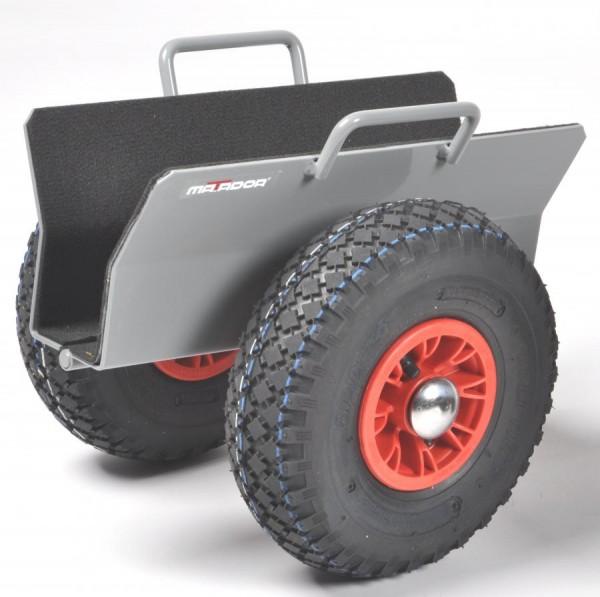 Plattenroller 70 mm, pannensichere Reifen, 300 kg Tragkraft, 390x310x350 mm