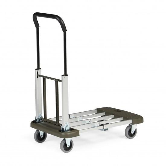 ALU-Transportwagen PROFI, 4-fach ausziehbare Ladefläche, 150 kg Tragkraft