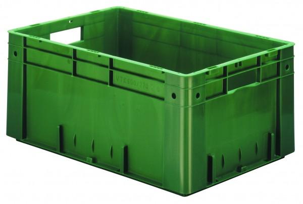 Schwerlast-Stapelkästen grün VTK 600/270 (PP), Wände und Boden geschlossen, VE = 2 Stück