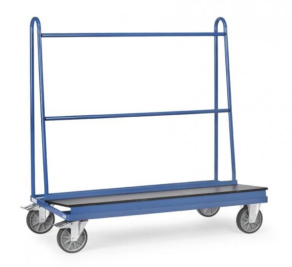 Plattenwagen 1500x400 mm, 500 kg Tragkraft, rutschsichere Siebdruckplatte, wasserfest