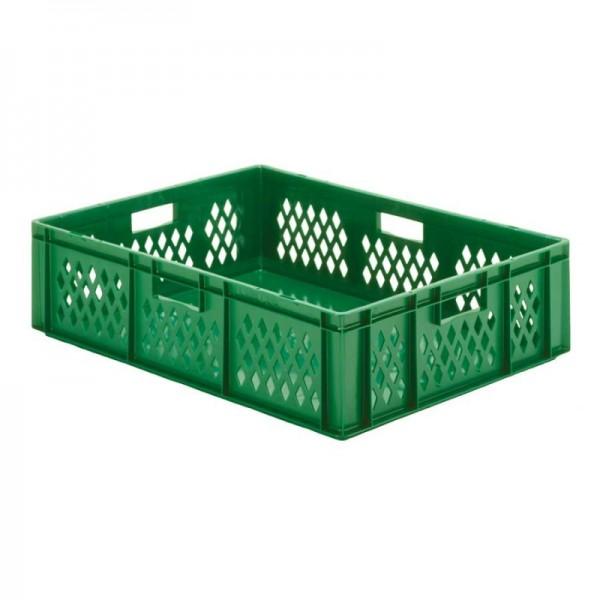 Stapelkästen Höhe 210 mm grün, TK800/600, Wände durchbrochen, Boden geschlossen, 2 Stück