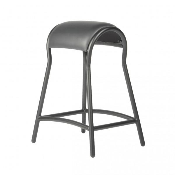 Arbeitshocker - Arbeitsstuhl, Lederbezug, Höhe 65 mm