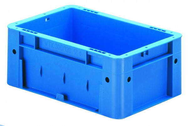 Schwerlast-Stapelkästen blau VTK 300/120 (PP), Wände und Boden geschlossen, VE = 8 Stück