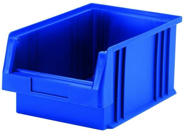 Sichtlagerkästen PLK 2a blau 330x213x200 mm, aus Polypropylen (PP), stapelbar, VE = 10 Stück