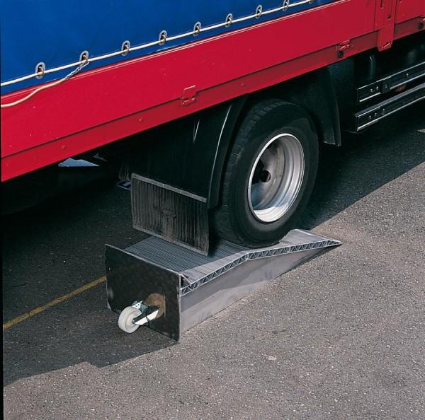 Auffahrkeile für LKW 145 mm, 12.000 kg Tragkraft/Paar, Gesamthöhe 225 mm, 2 Stück Aluminium