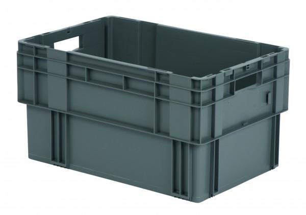 Drehstapelkästen grau DTK 600/320 (PP), Wände und Boden geschlossen, VE = 2 Stück