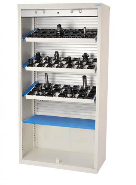 CNC Alu-Rollladenschrank 1000x500x1950 mm, inkl. 3 Werkzeugaufnahmerahmen, inkl. CNC-Einsätze