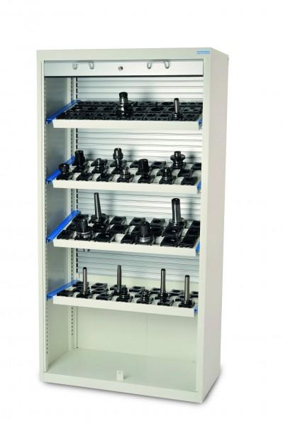 CNC Rollladenschrank 1000x500x1950 mm, inkl. 4 Werkzeugaufnahmerahmen, inkl. CNC-Einsätze