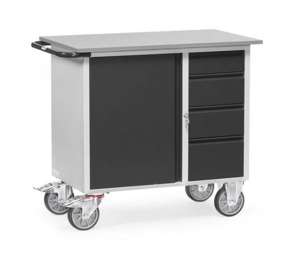 Werkstattwagen anthrazit mit Arbeitsplatte 400 kg Tragkraft, 985x590 mm