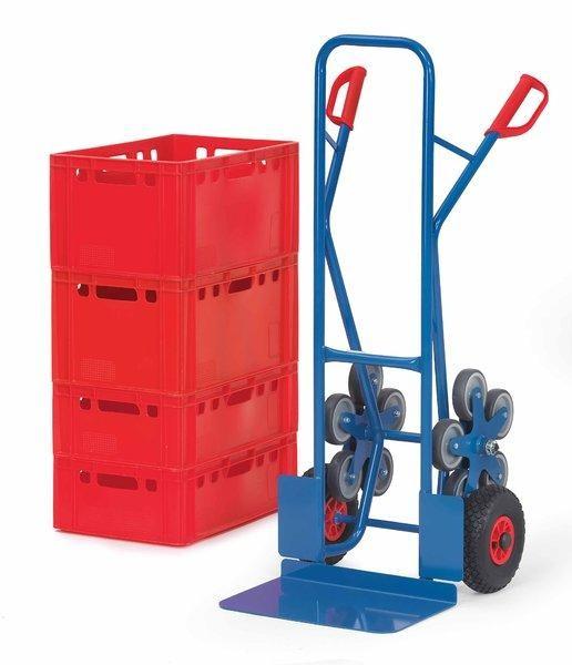 Treppenkarren 200 kg Tragkraft, 300x480 mm Schaufel, Luftreifen und 2 x 5-fach Radsterne