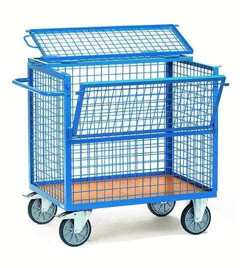 Kastenwagen mit Deckel, Draht 600 kg Tragkraft, 2 Größen