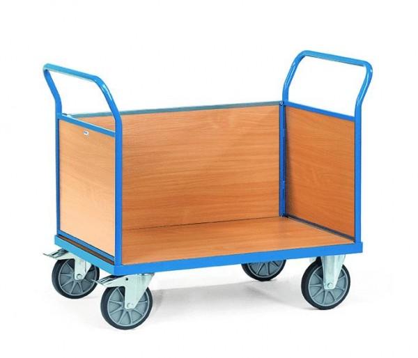 Dreiwandwagen 1200x800 mm, 600 kg Tragkraft, Holzwänden, EURO-Format