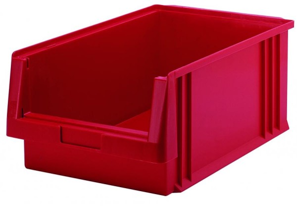 Sichtlagerkästen PLK 1 rot 500x315x200 mm, aus Polypropylen (PP), stapelbar, VE = 8 Stück