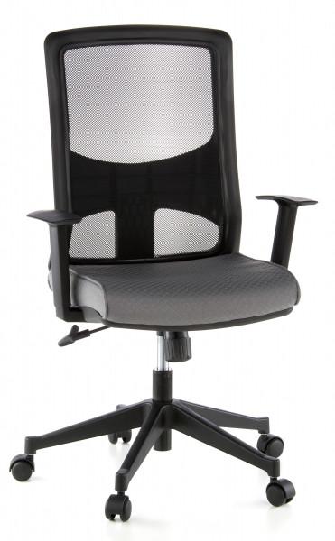 Bürodrehstuhl, 44-54 cm Sitzhöhe mit hoher Lehne + Armlehnen