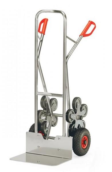 Alu - Treppenkarren 200 kg Tragkraft, 480x300 mm Schaufel, 5-armiger Radstern