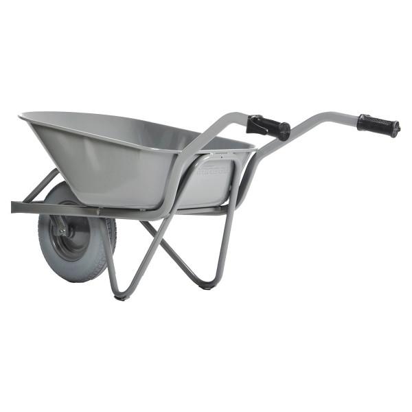 Straßenbau-Schubkarre EASY RIDER, extra verstärkt, pannensichere Reifen, 85 Liter Inhalt