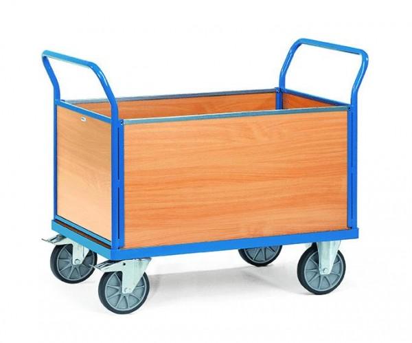 Vierwandwagen 850x500 mm, 500 kg Tragkraft, Holzwände