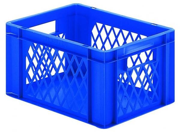 Stapelkästen Höhe 210 mm blau, TK 400, Wände durchbrochen, Boden geschlossen, 4 Stück