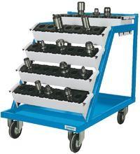 CNC Werkzeugträger, 630x900x860 mm, fahrbar , incl. 6 Aufnahmeträger 600 (WAT), 400 kg Tragkraft
