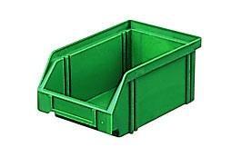 Sichtlagerkästen LK 4 grau 160x105x75 mm, aus Polystyrol (PS), stapelbar, VE = 25 Stück
