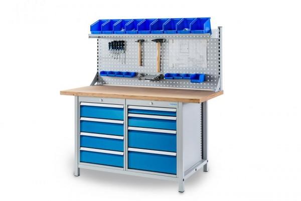 Multi-Werkbank 1500x750x959 mm, mit Multi-Wand-Aufbau, Tragkraft 1000 kg, höhere Arbeitshöhe