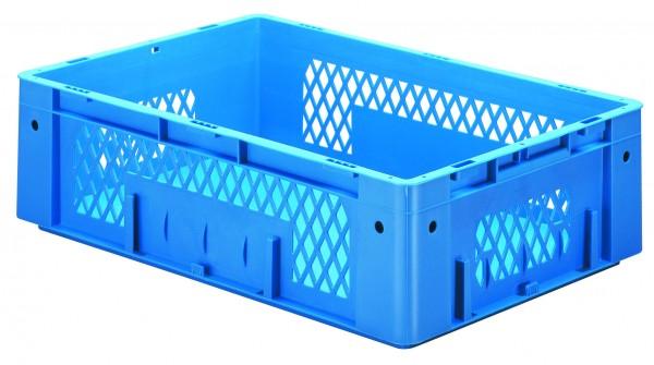 Schwerlast-Stapelkästen blau VTK 600/175-1 (PP), Wände durchbrochen Boden geschlossen, VE = 2 Stück
