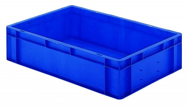Stapelkästen Höhe 145 mm blau, TK 600/400, Wände und Boden geschlossen, 2 Stück