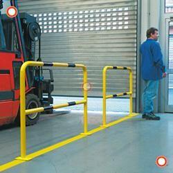 Schutzbügel zur Sicherung von Gefahrenzonen, für Innen, gelb/schwarz, 1000 x 1000