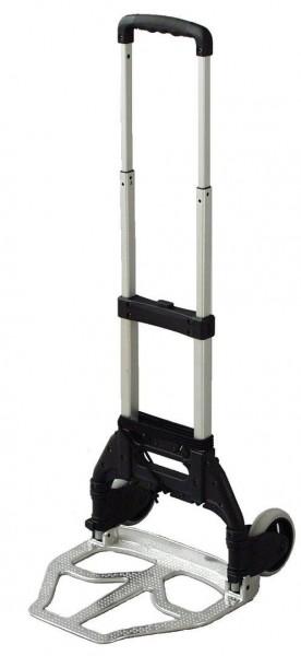 Leichte Alu-Stapelkarre, klappbar, 80 kg Tragkraft, Schaufel 490x320 mm