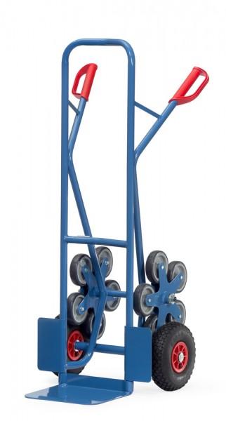Treppenkarren 200 kg Tragkraft, 250x320 mm Schaufel, Luftreifen und 2 x 5-fach Radsterne