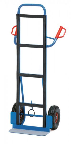 Gerätekarren für Kühlschränke 350 kg Tragkraft, Luftreifen, 150x480 mm Schaufel, Höhe 1425 mm